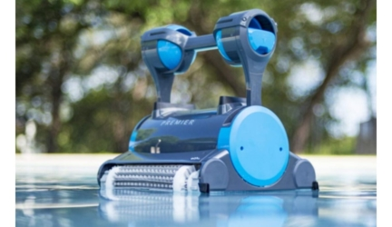 Robotic Pool Cleaner with Dual Scrubbing Brushes