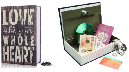 Hengsheng Secret Book Hidden Safe With Key Lock