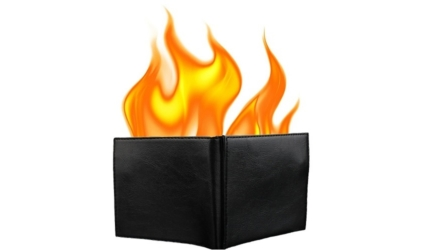Become An Instant Magician With The Flaming Wallet