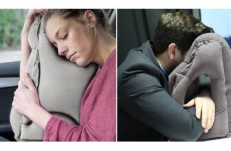 Portable Inflatable Travel Pillow For Head And Neck Rest