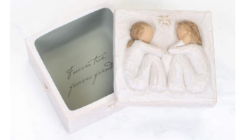 Sculpted Hand-painted Friendship Keepsake Box