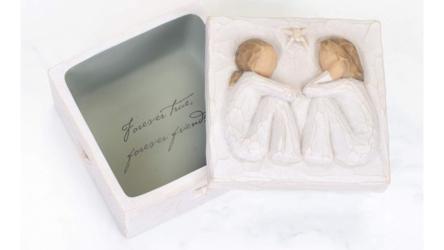 Sculpted Hand-painted Friendship Keepsake Box