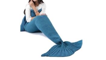 All Seasons Sleeping Crochet Mermaid Tail Blanket for Adult