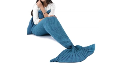 All Seasons Sleeping Crochet Mermaid Tail Blanket for Adult