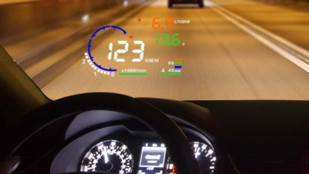 Windshield Head Up Display with RPM, MPH and Fuel Display